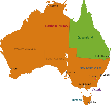 Gold coast theme parks gold coast theme parks and attractions map of australia gumiabroncs Choice Image